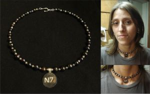 My Mass Effect N7 Necklace by RebelATS