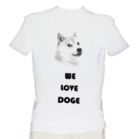 We Love Doge T-Shirt by euamodeus