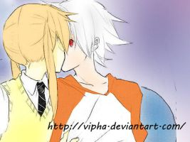 Maka kiss Soul part II xDD by Vipha
