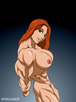 Nude Muscle Gal by elee0228