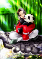 China and panda by mieulinhtu