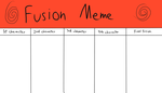Character Fusion meme (blank) by DAGooeyBaumbs