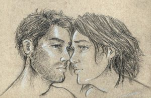 Beren and Luthien sketch by oboe-wan