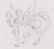 Species: Uknown - Cat with wings by Wildlioness3