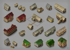 Houses by Joya-Filomena