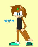 Ryan the coyote/ hedgehog ( New design) by sonicfan1345