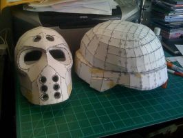 Pepakura Army of Two and KillZone by ZtheHellKat