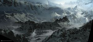 ice mountains by ourlak