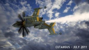 Steam-propelled fighter II by CUTANGUS