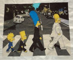 The Simpsons Cross Stitch by StitchDream