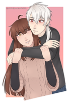 mystic messenger: zen x mc by Zoiekiwi