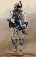 Soldier by the-araon