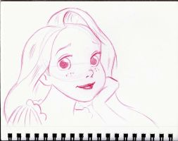 Rapunzel Sketch by Anime-Ray