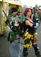 Maryl and Big boss cosplay by valentinachan