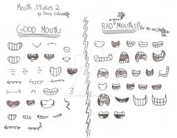 Jimmy Gibson's Mouth Studies 2 by CelmationPrince