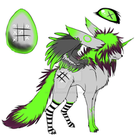 Dullneon - XO - CLOSED by colourfulgrey-adopts