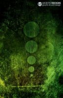 Green Grunge Circles by zedi0us