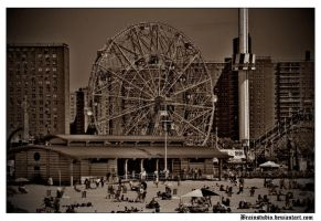 Wonder Wheel Coney Island by BRAINSTUDIO