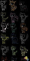shadow cat Adoptables 8 CLOSED by Karry-Bird