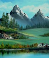 Calm Mountains by Wilwarin-Blueberry