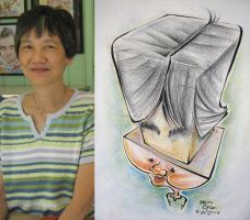 caricature- tower mom Chua 08 by chrisCHUA