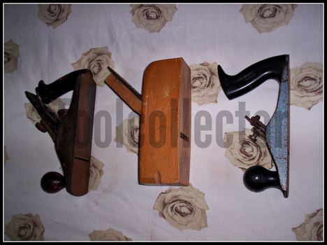 3 woodplanes by toolcollector