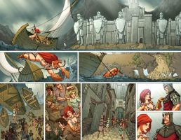 Red Sonja: Atlantis Rises 18-19 by MarkHRoberts