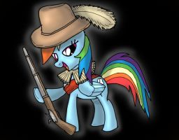 Rainbow Dash Musketeer by SnipperWorm