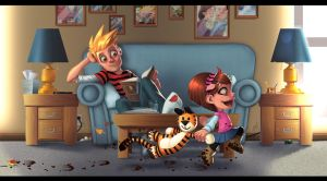 Calvin and Hobbes: Moving On by Zatransis
