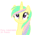 Pony Adoptable no.3 (20 points!) OPEN by DerpyLuv123