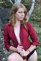 Talya - red shirt look 1 by wildplaces