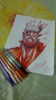 Shingeki no Kyojin- Colossal Titan by F-e-l-i-p-e