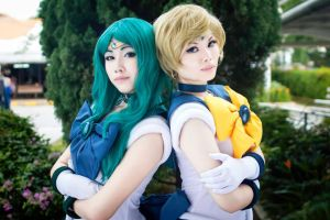 Sailor Senshi: NeptunexUranus [Preview] by Midnight-Bliss