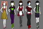 More Fashion Concepts (OC-Based) by Idellechi