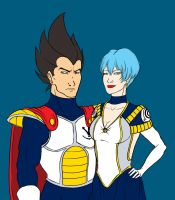 Vegeta+Bulma - Formal Wear by DeviouslyRatedM