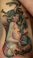 Medusa tattoo by nailone