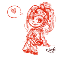 Vanellope warm-up sketch! by Claualphapainter-95