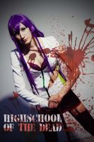 Highschool of the dead - Saeko by tajfu