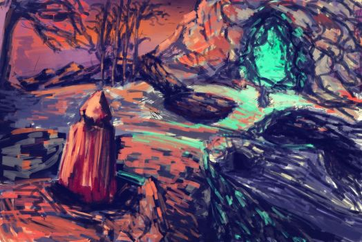 Landscape practice by Sheeshmeow