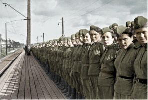 Russian female soldiers ww2 by UniformFan