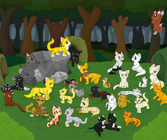 A day in Thunderclan Camp by cinderspark