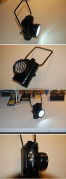 1940s Policeman's lamp conversion to LED bike lamp by yereverluvinuncleber