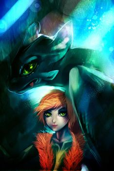 How to train your dragon by ryky