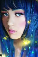 Blue haired ~ by xJNFR