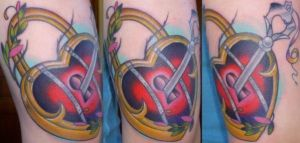 Traditional Heart Lock It by StarvingArtist513