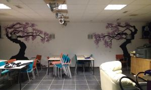 mural japanese garden at youth center by blueyonder