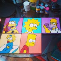Canvas Simpsons by artesladybug