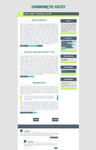 Blogspot template Flat in green by stupid-owl