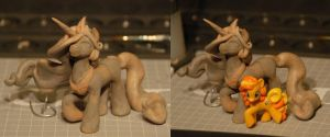 MLP - blind bag sized Celestia Sculpt - WIP by Miki-
