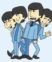 The Beatles Cartoon by EmlyMack